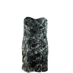 A. Byer S Dress Mini Strapless Layers Club Party
